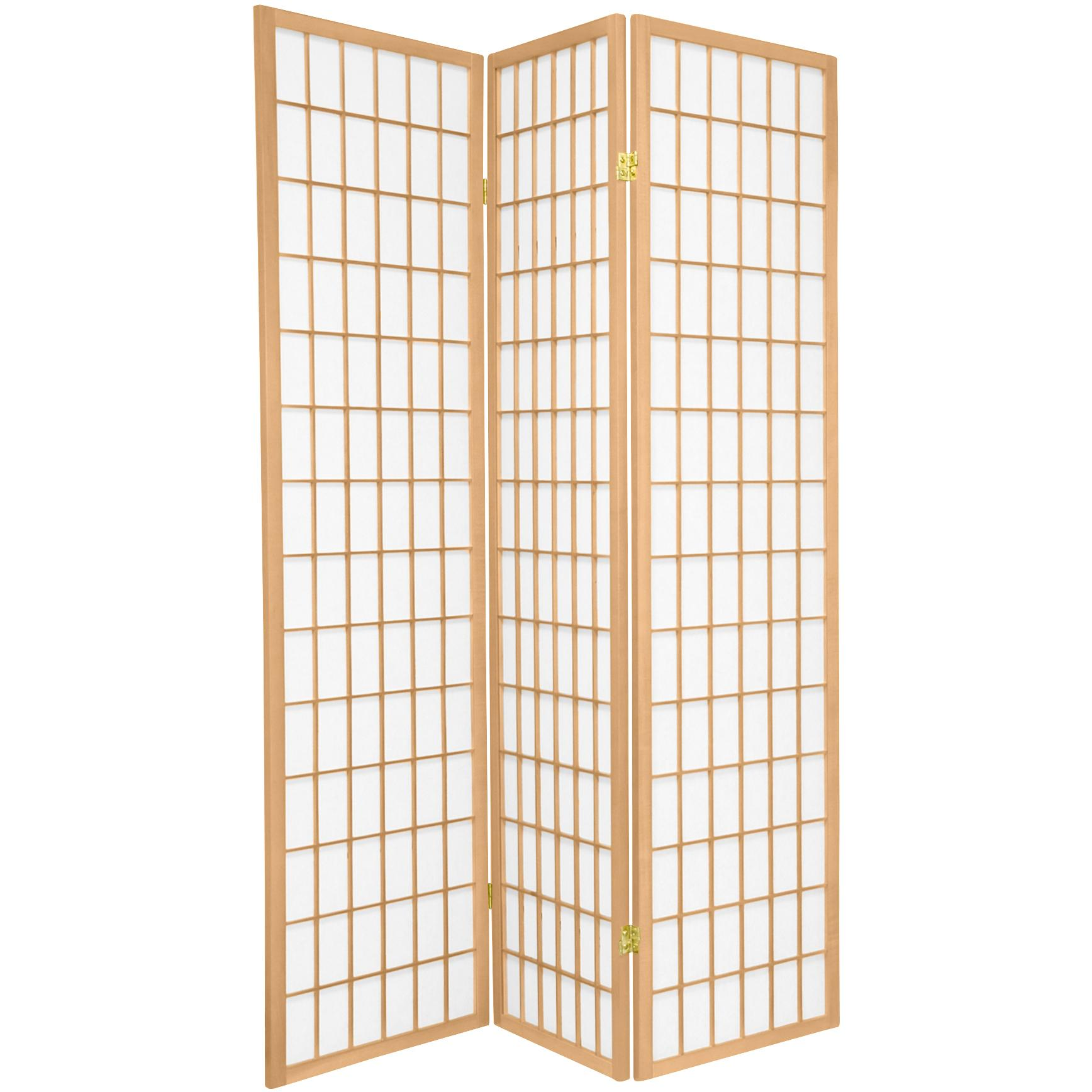 Japanese Room Divider Shoji Rice Paper 3 Panel Tana Natural