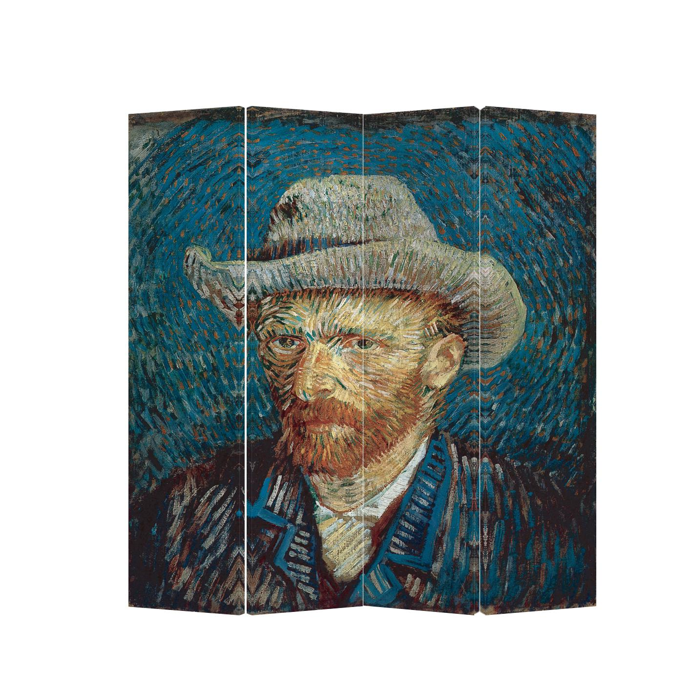 Roomdivider 4 Panels Van Gogh Canvas