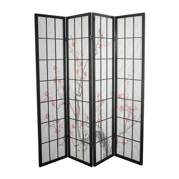 Japanese Shoji Rice Paper Screens Fine Room Dividers - Cherry blossom room divider screen